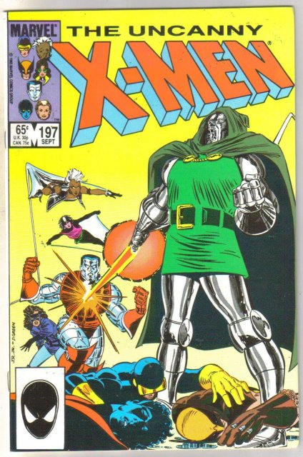 Uncanny X-men #197 comic book near mint 9.4