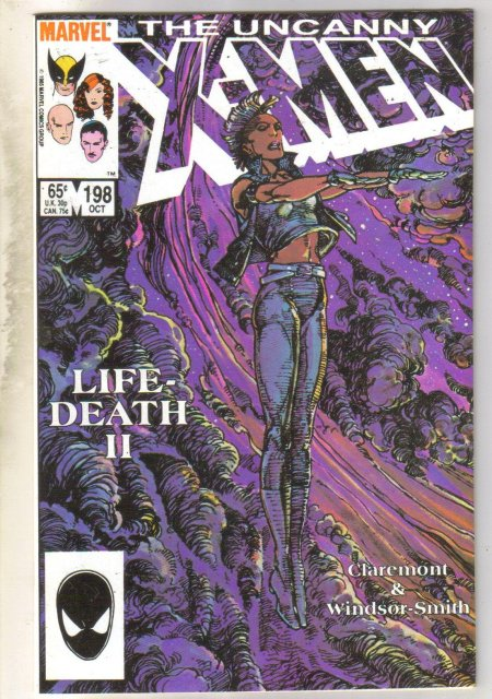 Uncanny X-men #198 comic book near mint 9.4