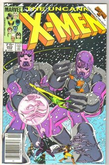 Uncanny X-men #202 comic book near mint 9.4