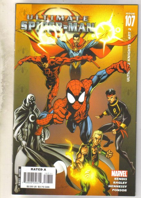 Ultimate Spider-man #107 comic book near mint 9.4