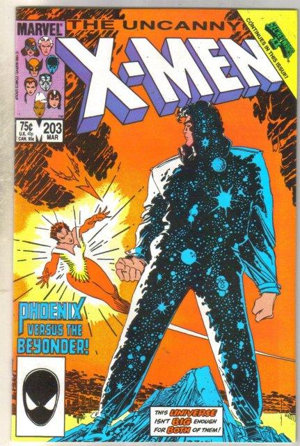 Uncanny X-men #203 comic book near mint 9.4