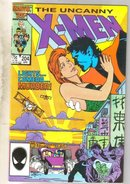 Uncanny X-men #204 comic book near mint 9.4