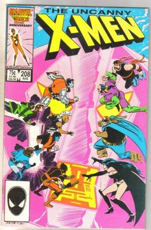 Uncanny X-men #208 comic book fine 6.0