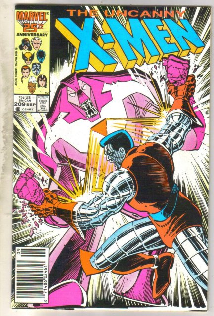 Uncanny X-men #209 comic book fine 6.0