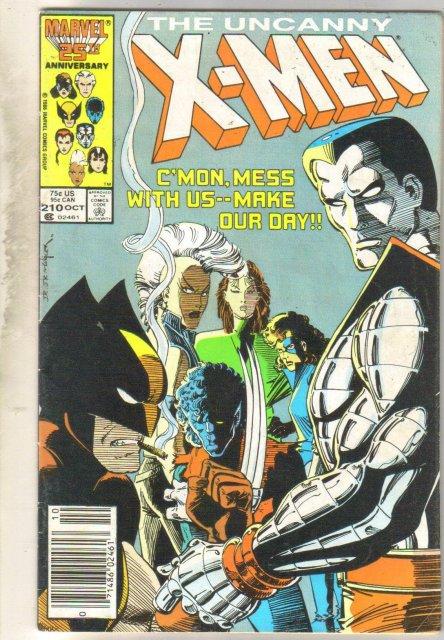 Uncanny X-men #210 comic book very good 4.0