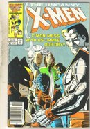 Uncanny X-men #210 comic book very good 4.0