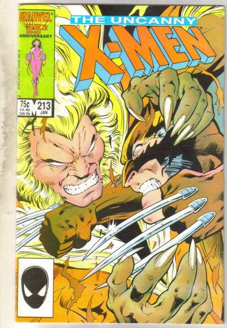 Uncanny X-men #213 comic book very fine 8.0