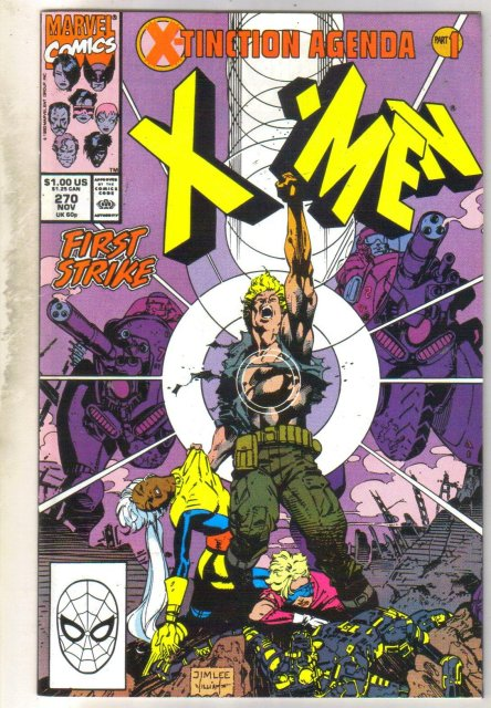 Uncanny X-men #270 comic book near mint 9.4