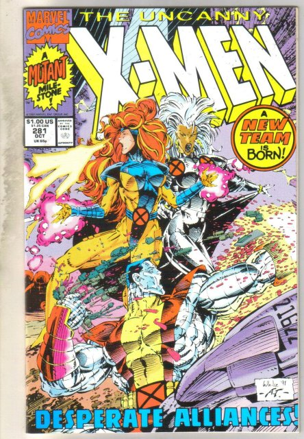 Uncanny X-men #281 comic book mint 9.8