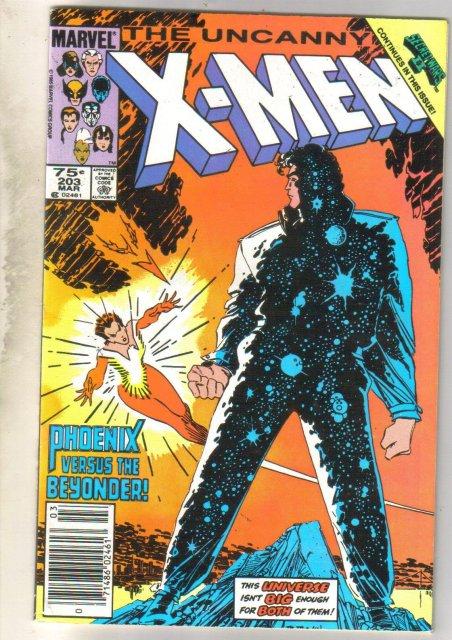 Uncanny X-men #203 comic book fine 6.0