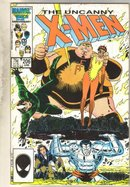 Uncanny X-men #206 comic book fine/very fine 7.0