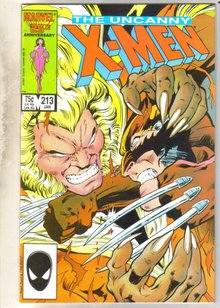 Uncanny X-men #213 comic book near mint 9.4