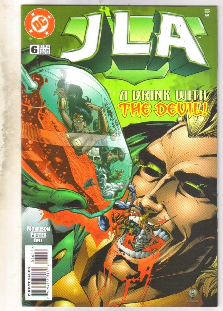 JLA #6 comic book near mint 9.4
