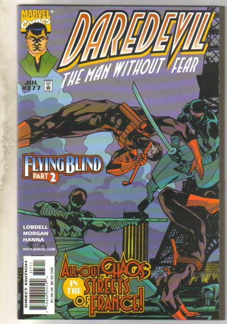 Daredevil #377 comic book near mint 9.4