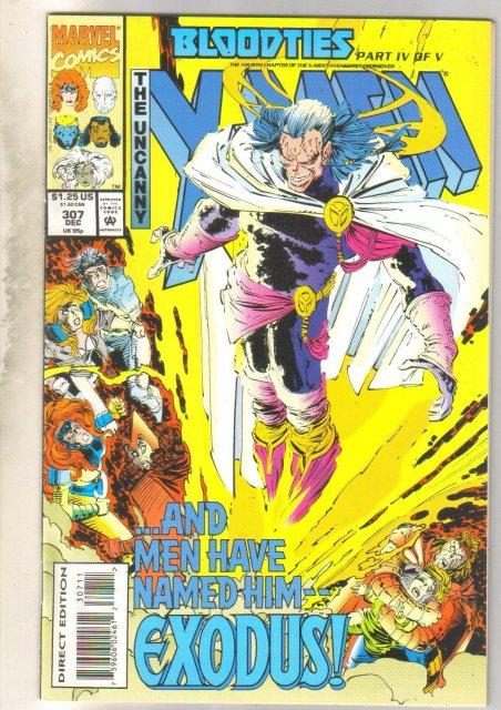 Uncanny X-men #307 comic book mint 9.8