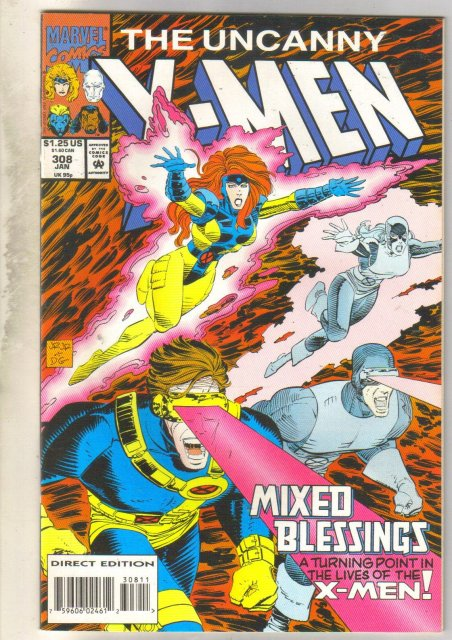 Uncanny X-men #308 comic book mint 9.8