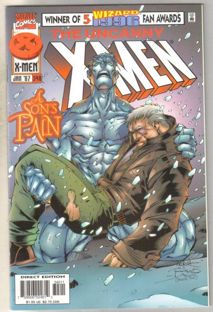Uncanny X-men #340 comic book mint 9.8