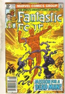 Fantastic Four #233 comic book very fine/near mint 9.0