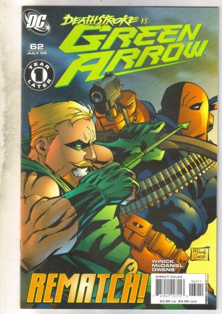 Green Arrow #62 comic book mint 9.8