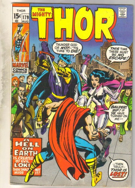 Mighty Thor #179 comic book very good/fine 5.0