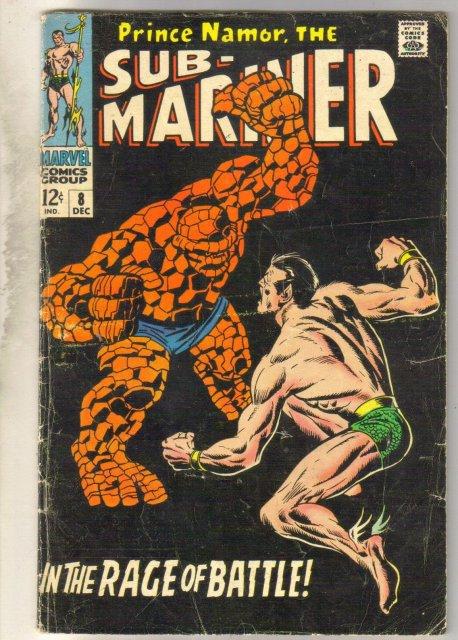 Sub-Mariner #8 comic book very good 4.0
