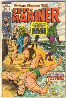 Sub-Mariner #18 comic book good/very good 3.0
