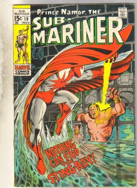 Sub-Mariner #19 comic book good/very good 3.0
