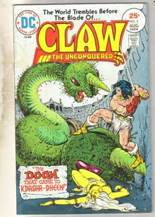 Claw #2 comic book very good 4.0