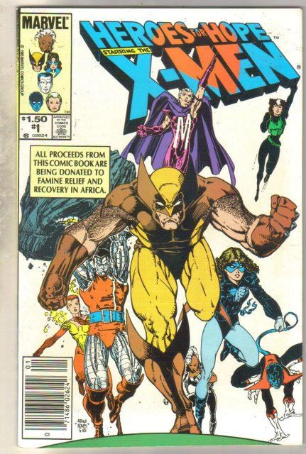 Heroes For Hope Starring the X-men #1 comic book near mint 9.4