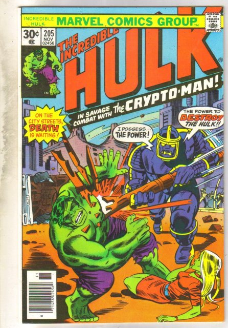 Incredible Hulk #205 comic book near mint 9.4