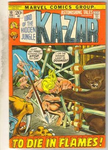 Astonishing Tales #10 (Kazar) comic book very good 4.0