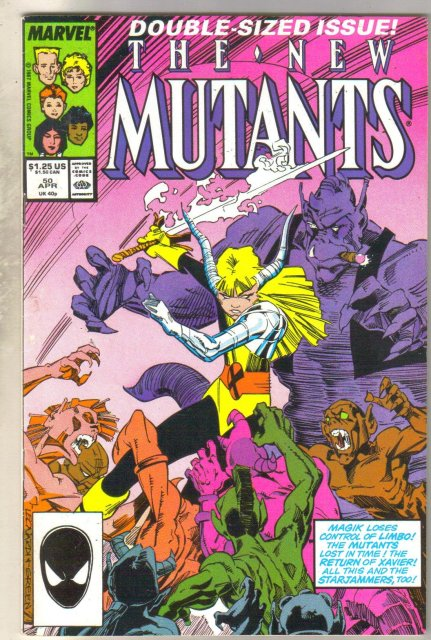 New Mutants #50 comic book fine 6.0