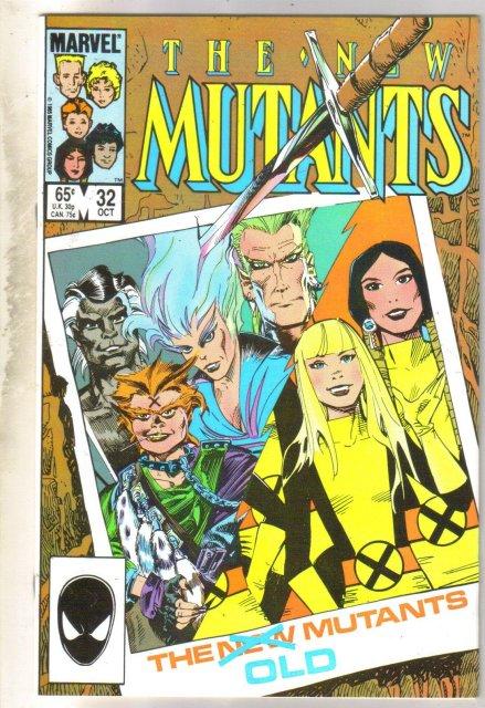 New Mutants #32 comic book near mint 9.4