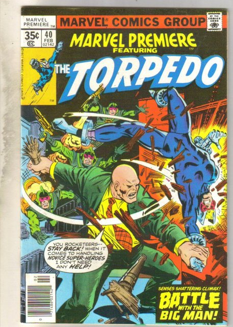 Marvel Premiere #40 (Torpedo) comic book near mint 9.4