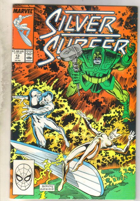 Silver Surfer #13 comic book near mint 9.4