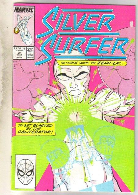 Silver Surfer #21 comic book near mint 9.4