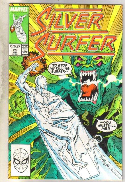 Silver Surfer #23 comic book near mint 9.4