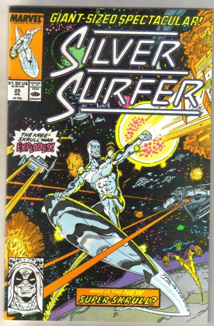 Silver Surfer #25 comic book near mint 9.4
