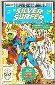 Silver Surfer Annual #1 comic book near mint 9.4