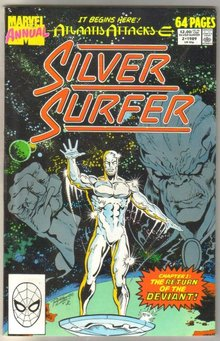 Silver Surfer Annual #2 comic book near mint 9.4