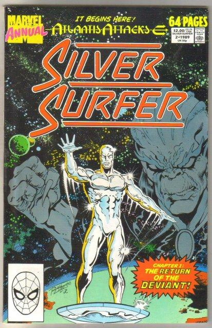 Silver Surfer Annual #2 comic book near mint 9.4