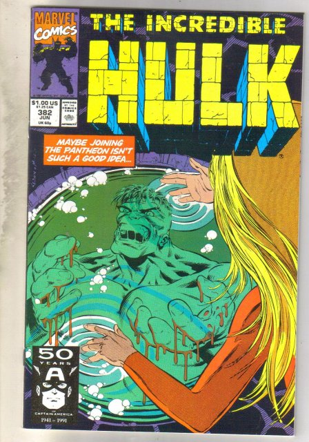 Incredible Hulk #382  comic book near mint 9.4