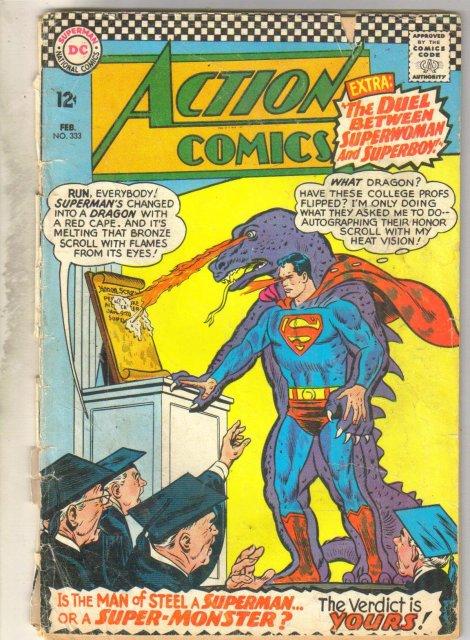 Action Comics #333 comic book poor 1.0