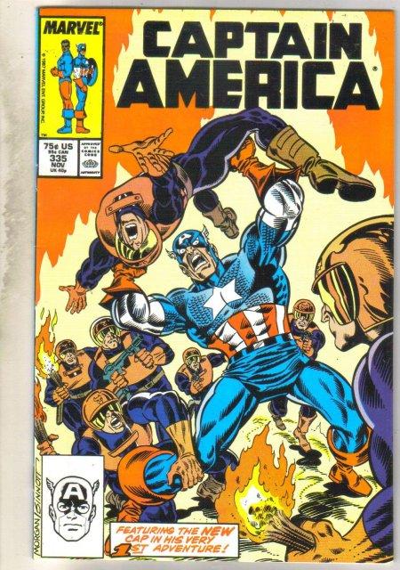 Captain America #335 comic book very fine 8.0