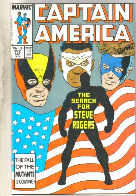Captain America #336 comic book very fine 8.0