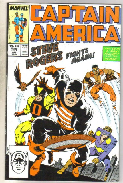 Captain America #337 comic book very fine 8.0