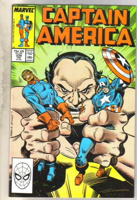 Captain America #338 comic book very fine 8.0