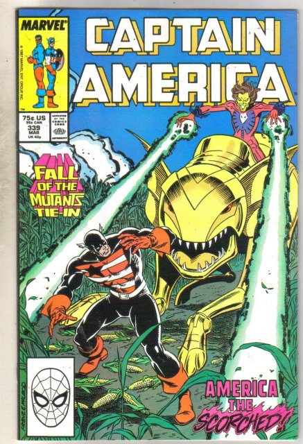 Captain America #339 comic book near mint 9.4