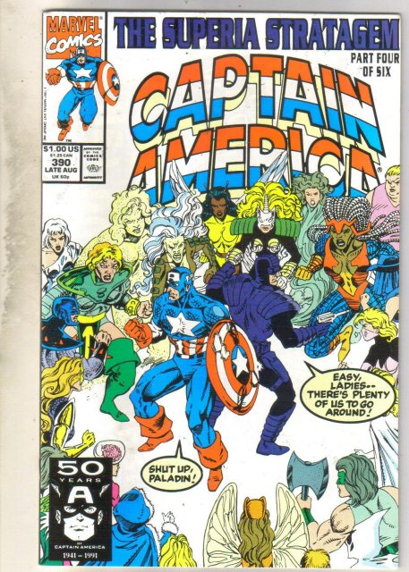 Captain America #390 comic book near mint 9.4