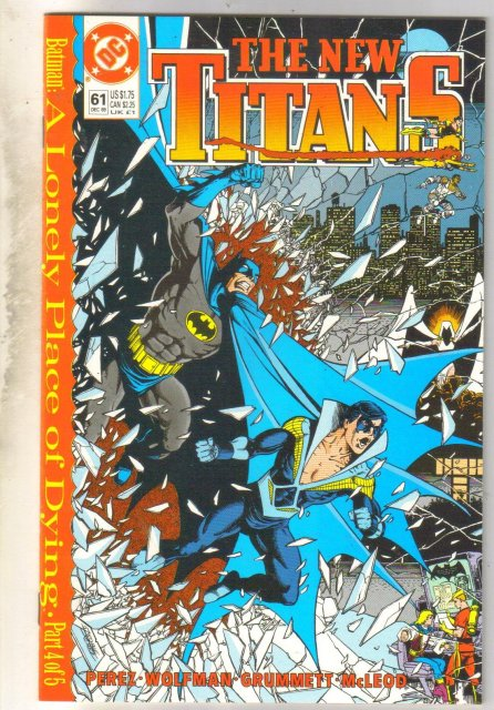New Titans #61 comic book near mint 9.4